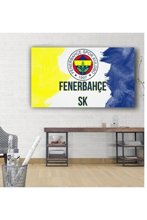 kanvasnes Fenerbahçe Temalı - Her Mekana Uygun Dekoratif Kanvas Tablo 70x100 Cm 0