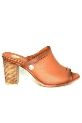 Mammamia Kadın Taba Deri Topuklu Ayakkabı 0