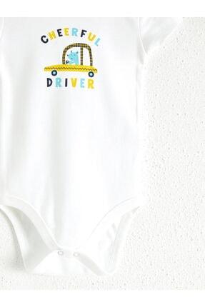 LC Waikiki Erkek Bebek Optik Beyaz E5X Bebek Body & Zıbın 3