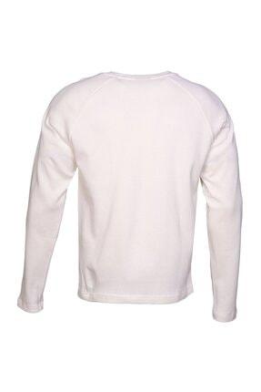 HUMMEL Erkek Beyaz Uzun Kollu Tişört 2