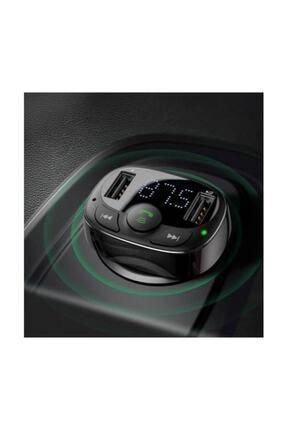 Baseus Orijinal Bluetooth Aktarım Mp3 Araç Kiti 2 Usb Çıkışlı Araç Şarjı, Araç Müzik Kiti Ve Şarjı 4