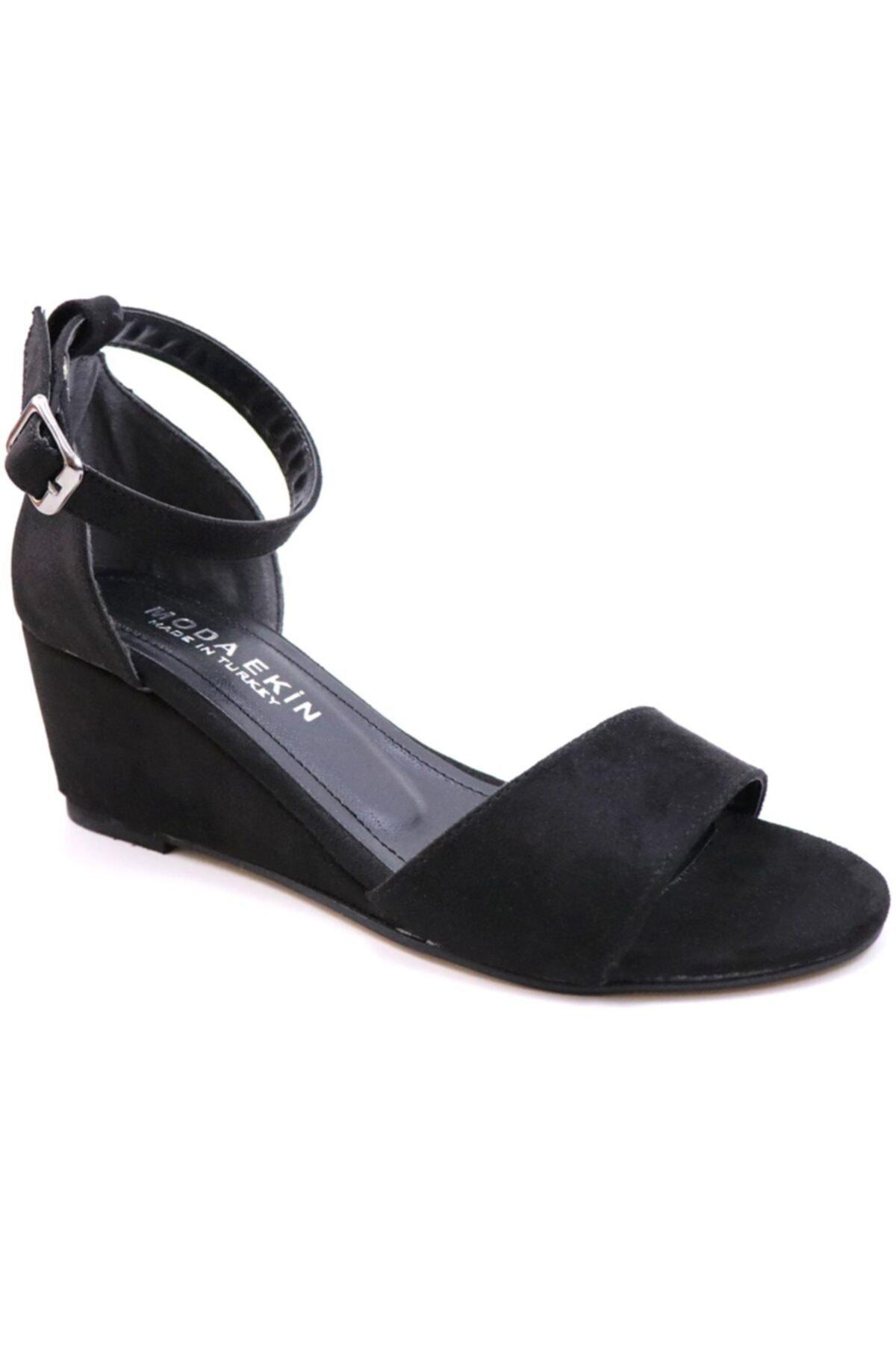 MODA EKİN Kadın Siyah Ayakkabı