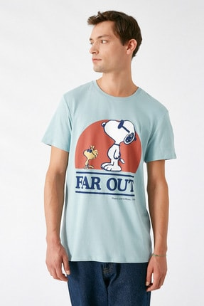 Koton Erkek Açık Mavi T-Shirt 1KAM14181CK 2