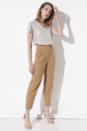 Arma Life Kadın Kahverengi Tokalı Kumaş Pantolon 1