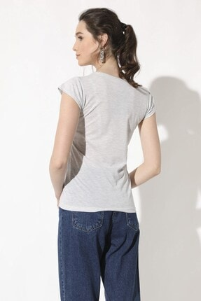 Arma Life Kadın Karmelanj Kabartma Baskılı T-Shirt 270-0Yb4200Tsh 4