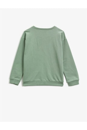 Koton Pamuklu Yazili Baskili Uzun Kollu Sweatshirt 1