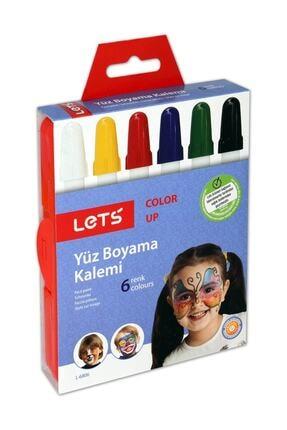 Lets 6 Renk Yüz Boyama Kalemi L-6806 0