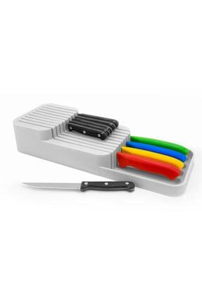 Morpanya Çekmece İçi Kaşıklık ve Bıçaklık Seti Mutfak Çekmece Düzenleyici Organizer Beyaz 1