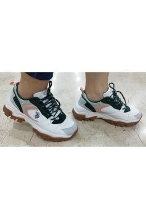US Polo Assn Unisex Beyaz Spor Ayakkabı 1