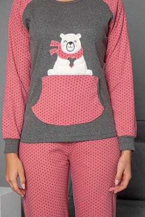 Strawberry Kadın Gül Kurusu Pamuklu Interlok Pijama Takimi 3