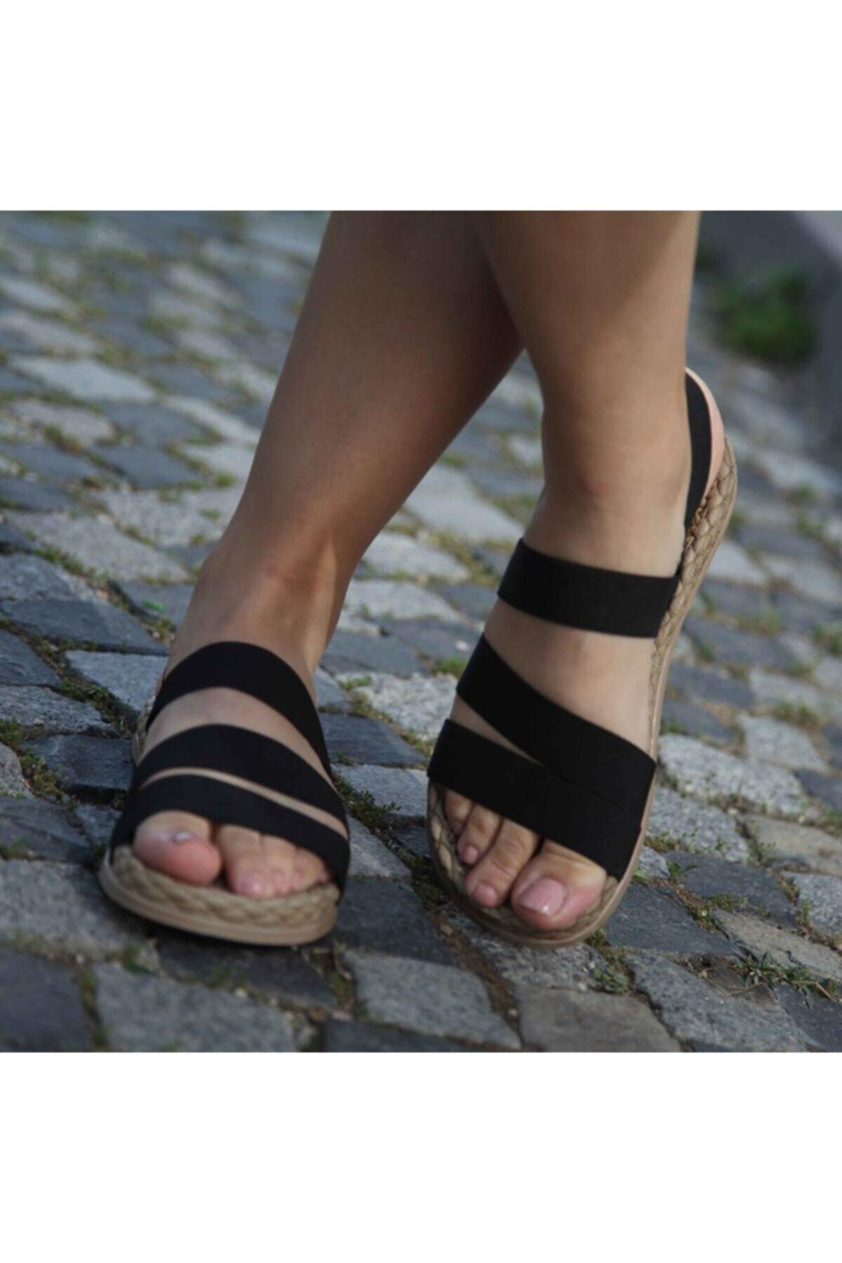Matilla Kadın Siyah Sandalet