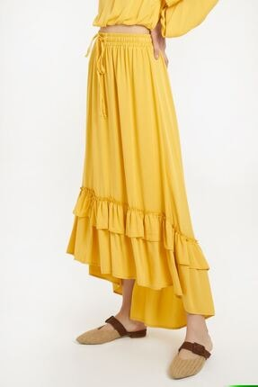 Batik Kadın Sarı Düz Etek Y10659 1