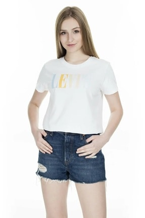 Levi's Kadın Beyaz The Perfect 90'S Serif T-Shirt 17369-0969 2