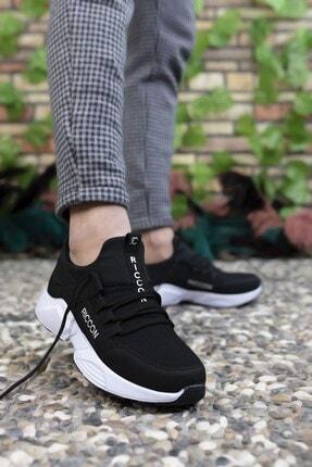 Riccon Unisex Siyah Beyaz  Sneaker 3