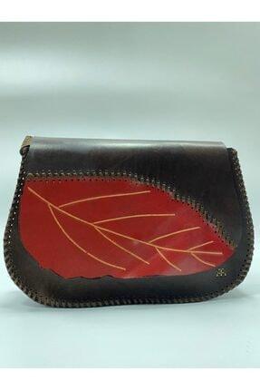 Kahverengi Kırmızı Yaprak Çanta kahverengi kırmızı yaprak çanta