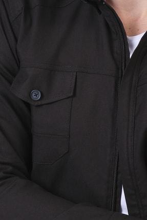 Giymoda Erkek Fermuarlı Regular Fit Denim Gömlek 1