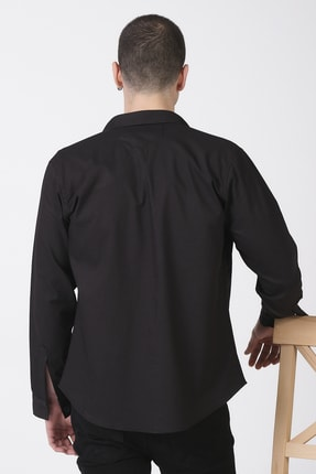 Giymoda Erkek Fermuarlı Regular Fit Denim Gömlek 2