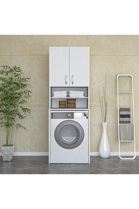 ARS GRUP MOBİLYA Çamaşır Makinesi Dolabı Banyo Dolabı Raflı Kapaklı Dolap 0