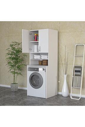 ARS GRUP MOBİLYA Çamaşır Makinesi Dolabı Banyo Dolabı Raflı Kapaklı Dolap 1