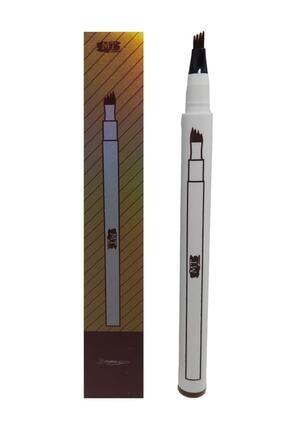 Makeuptime Mikroblading Kalıcı Kaş Kalemi Ucu Tırtıklı Kahverengi 0