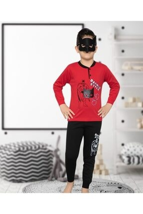 Picture of Erkek Çocuk Batman Desenli Ince Uzun Kollu Pijama Takım