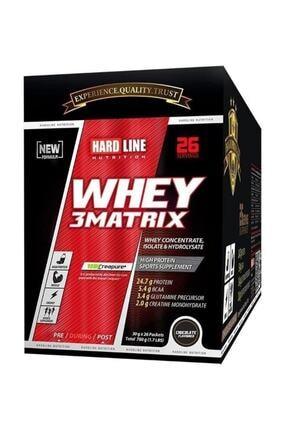 Hardline Whey 3 Matrıx Protein Tozu 780 gr 30*26 Chocolate 1