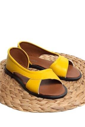 Moda Frato Kadın Sarı Babet Sandalet 3