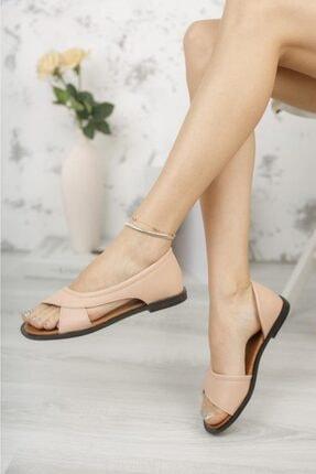 Moda Frato Kadın Pudra Açık Sandalet 0