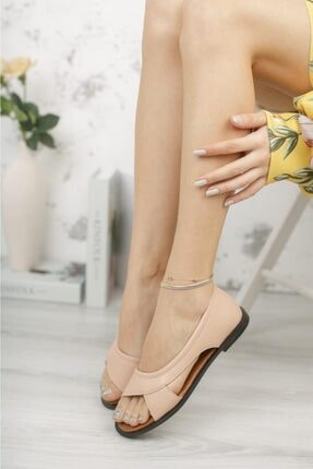 Moda Frato Kadın Pudra Açık Sandalet 1
