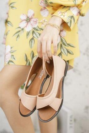 Moda Frato Kadın Pudra Açık Sandalet 3