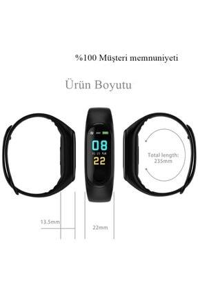 DRN Unisex Siyah Angel Eye M3 Band Spor Modları, Nabız Ölçer Akıllı Bileklik Akıllı Saat M3band 2