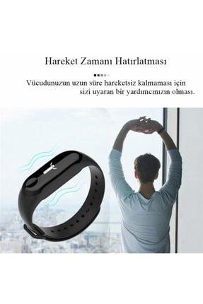 DRN Unisex Siyah Angel Eye M3 Band Spor Modları, Nabız Ölçer Akıllı Bileklik Akıllı Saat M3band 3
