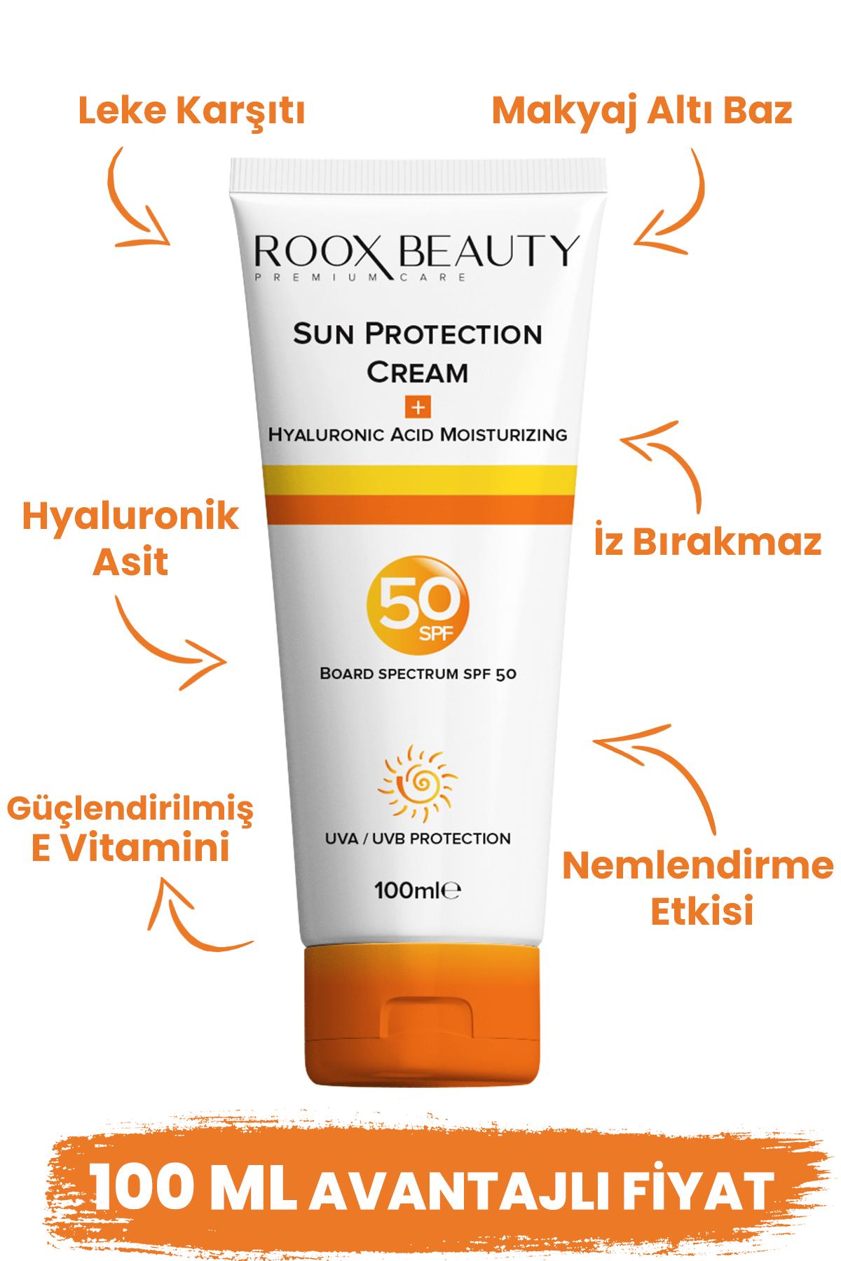 Roox Beauty Güneş Kremi Spf 50 - Yüksek Koruma - Leke Karşıtı - Aile Boyu 100 ml 0