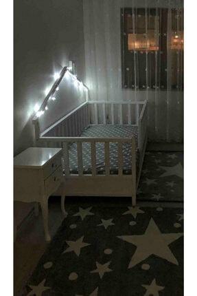 Baby Kinder Beyaz Doğal Ahşap Yatak Montessori Bebek ve Çocuk Karyolası 3