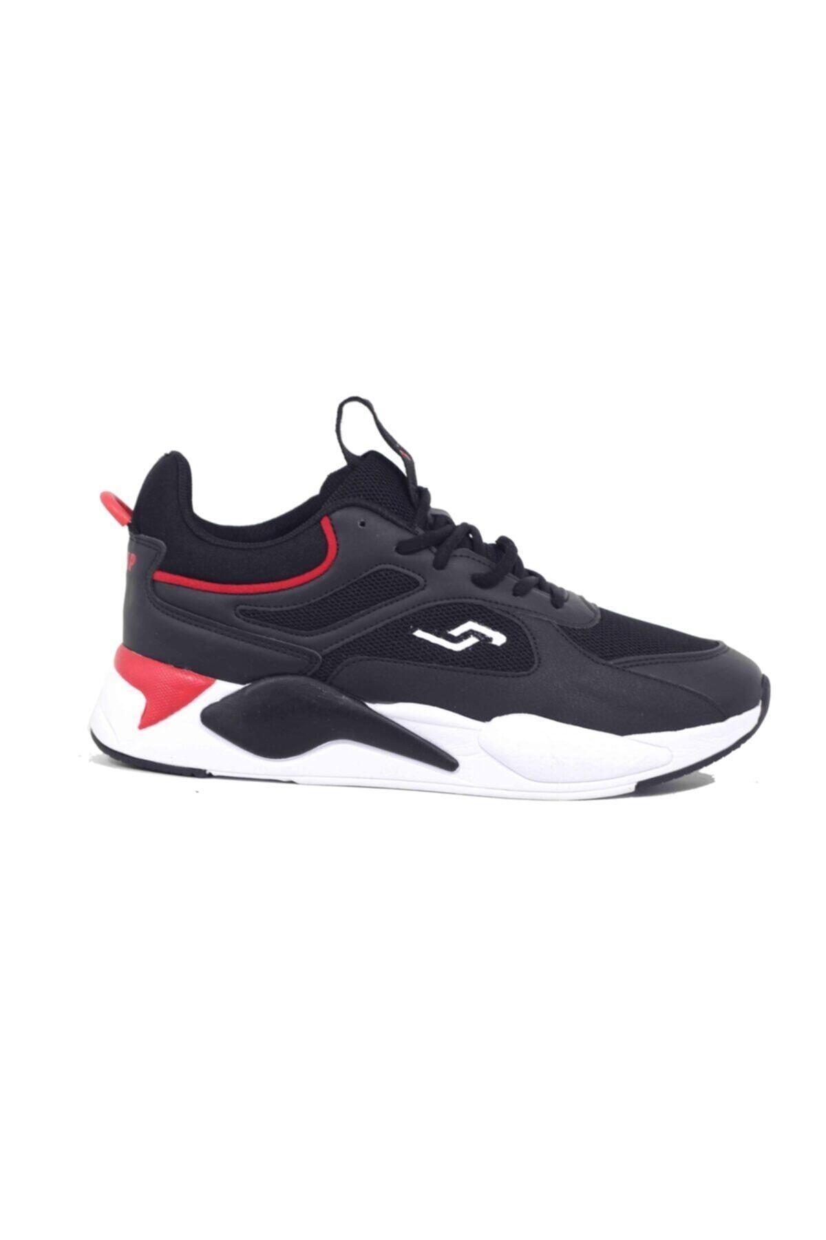 24770 Siyah - Kırmızı Erkek Spor Ayakkabı