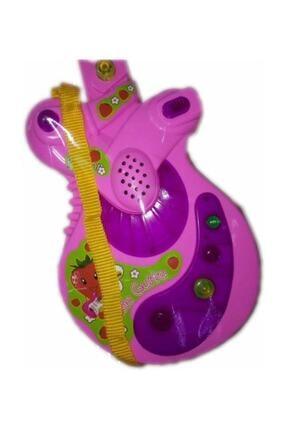 CAN Sesli Işılklı Gitar . Müzikli Gitar . 35 Cm Boyunda Şık Gösterişli Gitar 1