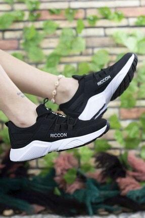Riccon Unisex Siyah Beyaz  Sneaker 2