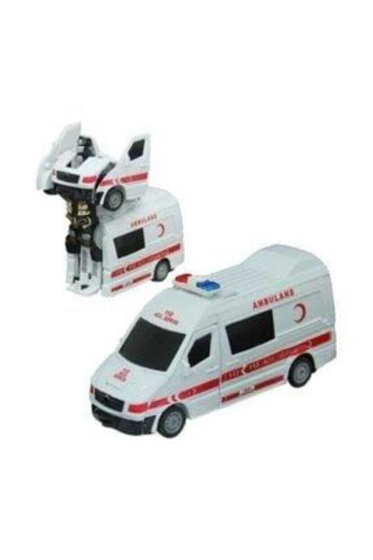 Işıklı Sesli Robota Dönüşen Ambulans Itfaiye Polis