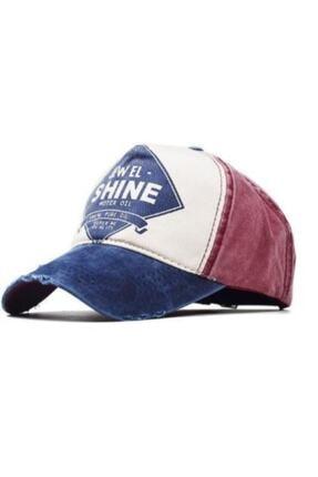 3D Unisex Lacivert Jewel Shine Beyzbol Eskitme Şapka 0