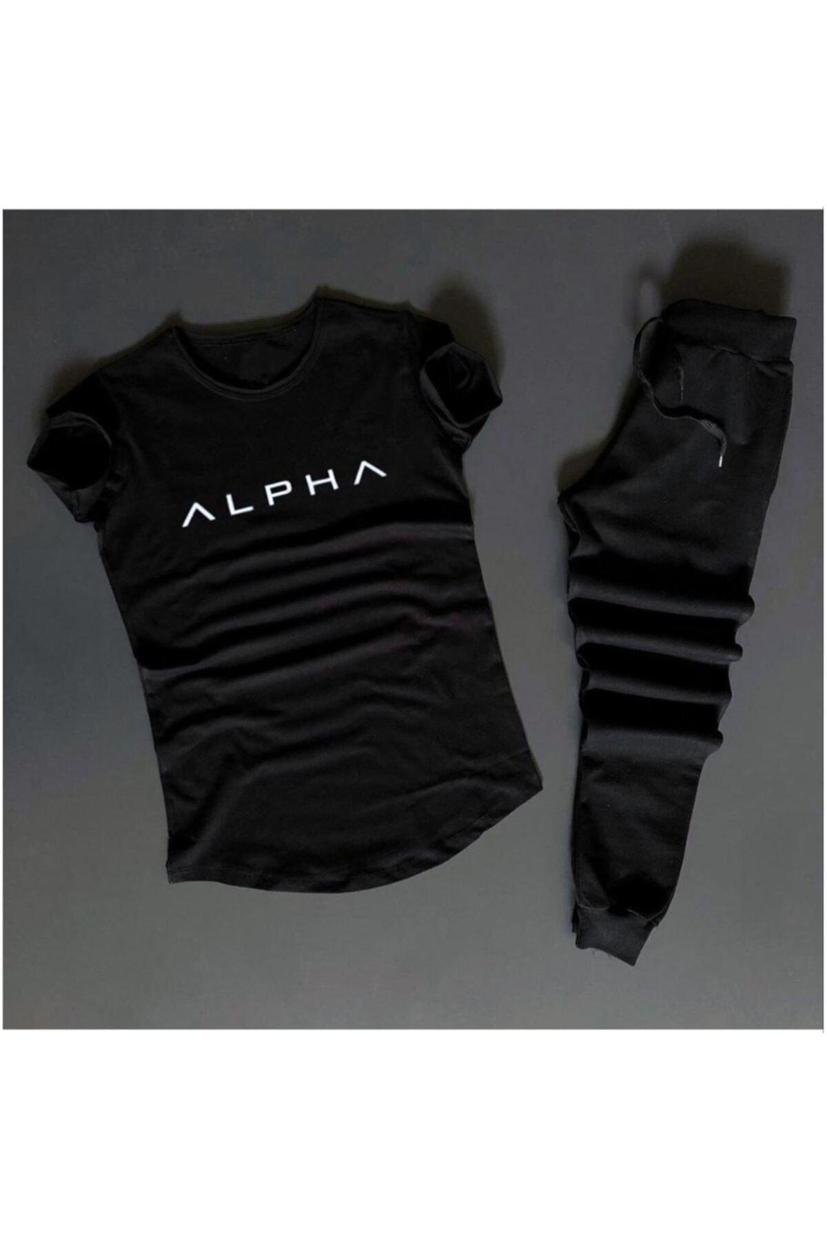 Alpha Siyah Eş Niksiyah Eşofman /d-4