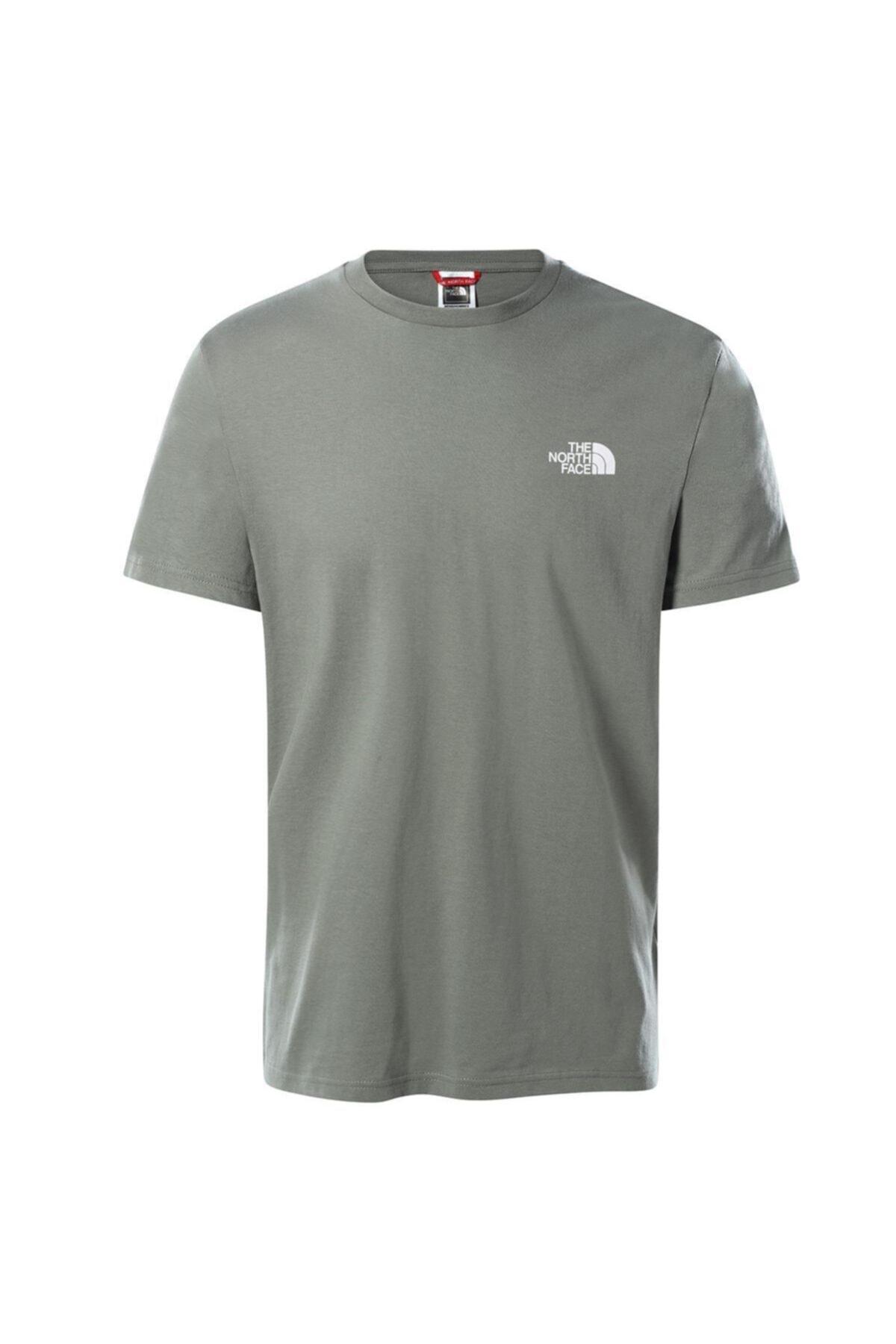 Erkek Gri Sımple Dome Tişört