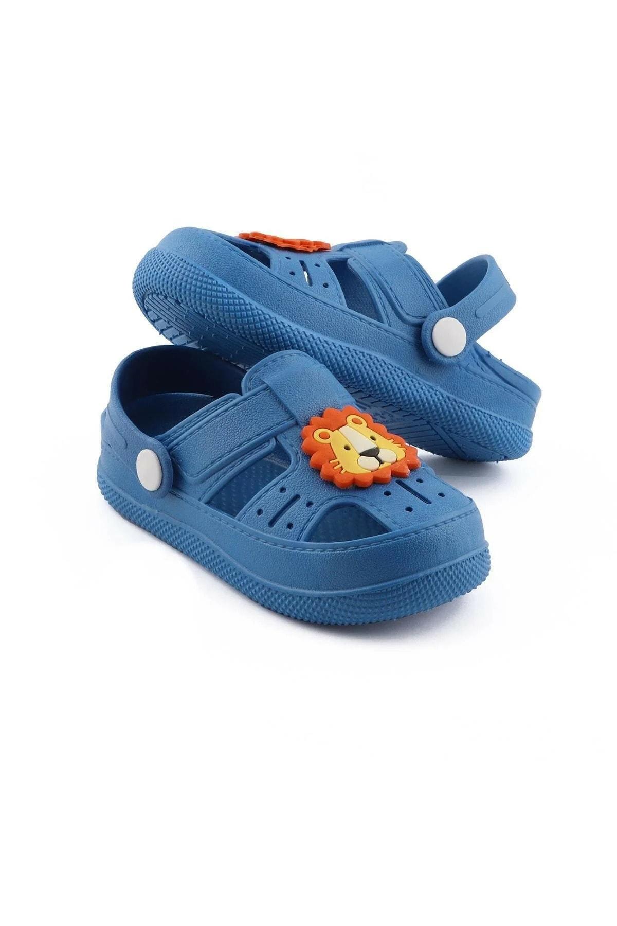 Bk1001 Kaydırmaz Aslan Desenli Çocuk Sandalet Terlik