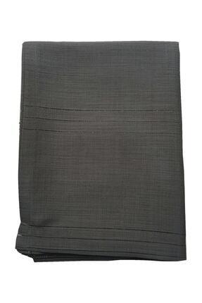erciyesceyiz Siyah Keten Kumaş Çizgi Masa Örtüsü 160*220 cm 0