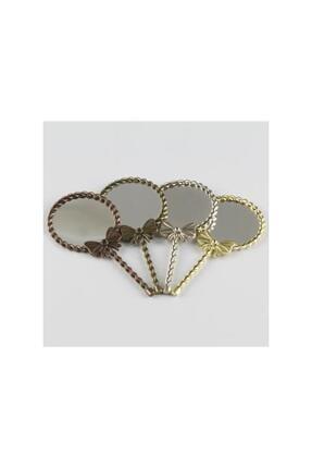 Fiyong Figürlü Yuvarlak Metal Ayna (el Aynası) EKST1032409