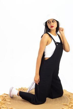 Salopet Bahçivan Kadın Tulum Siyah C3-T0015-00005