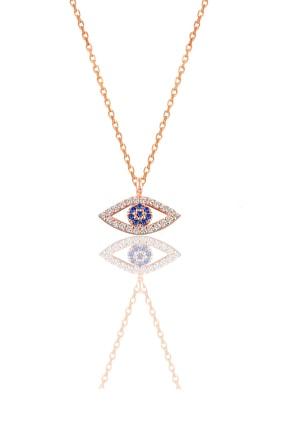 Söğütlü Silver Kadın Gümüş Göz Kolye SGTL9138 0