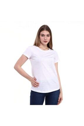 Baskılı Kadın T-shirt Afun Beyaz resmi