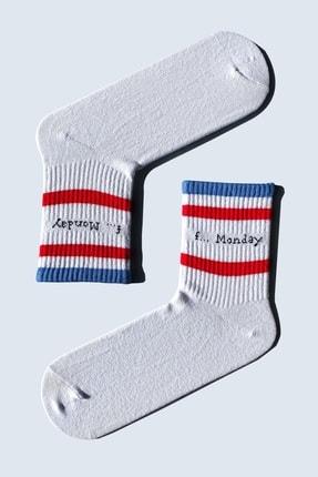 CARNAVAL SOCKS 7'li Nyc Yazılı Atletik Renkli Atletik Spor Çorap Set 1040 2