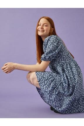 Kadın Çiçekli Elbise Balon Kollu Elbise 1YAL88070IW