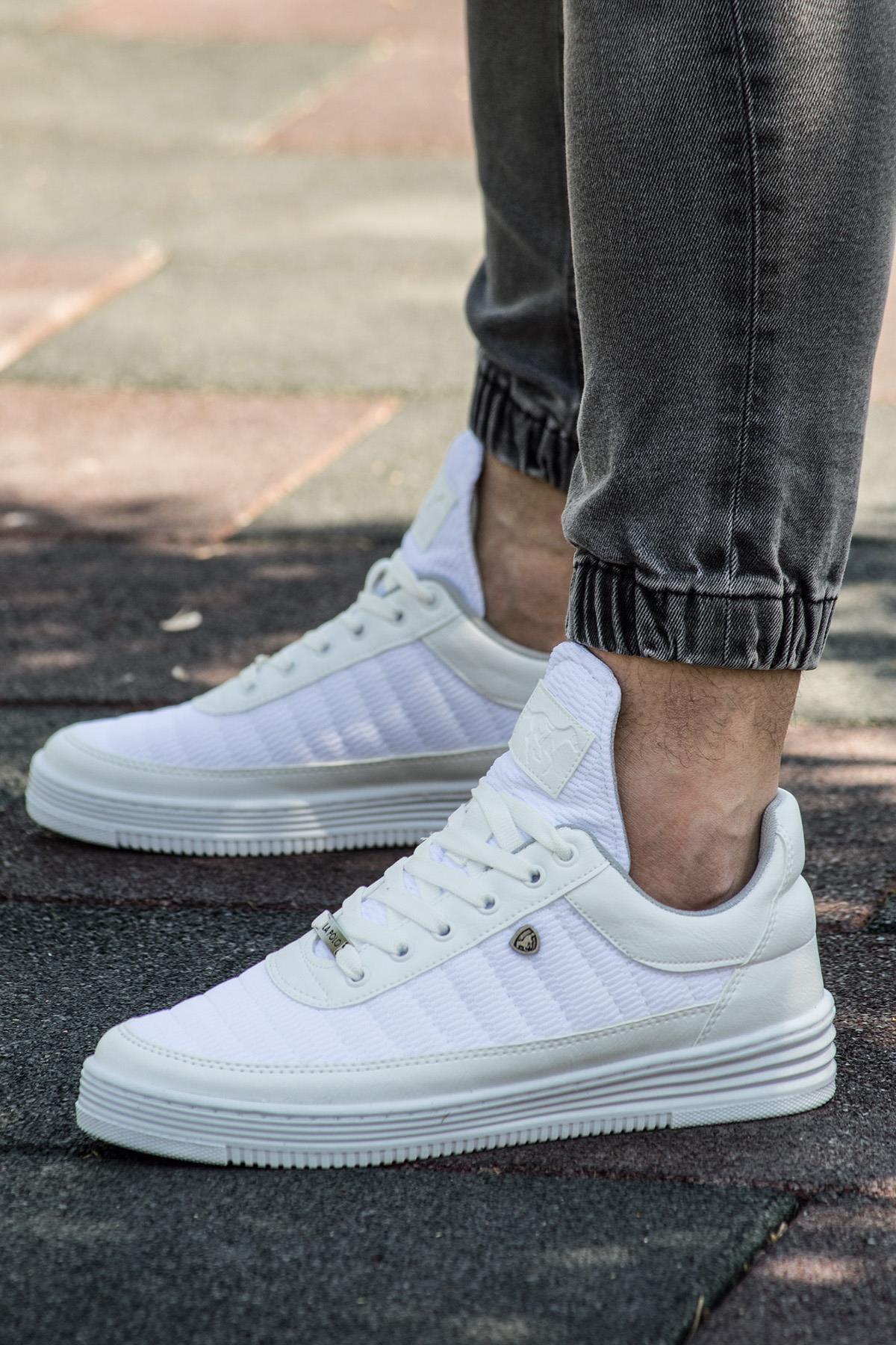 077 Beyaz Beyaz Summer Erkek Spor Ayakkabı